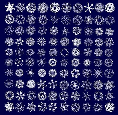 a set of snowflakes