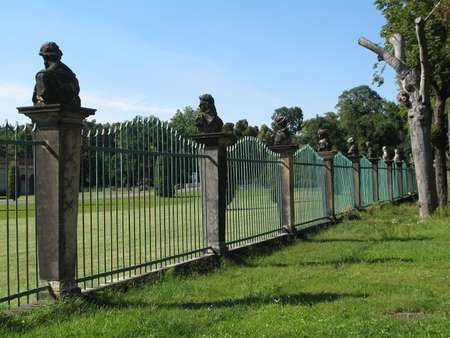 busts: fence Stock Photo