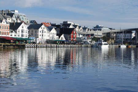 Norwegian town Haugesund Stock Photo