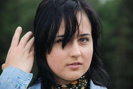 portrait of teenage girl photo