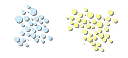 two different clusters Vector