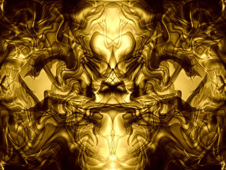 golden abstract background Stock Photo - 6468478