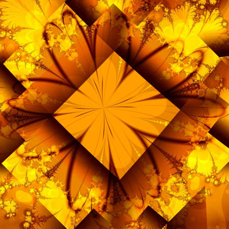 golden abstract background Stock Photo - 6492963
