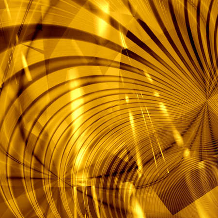 computer generated golden abstract wallpaper Stock Photo - 6678883