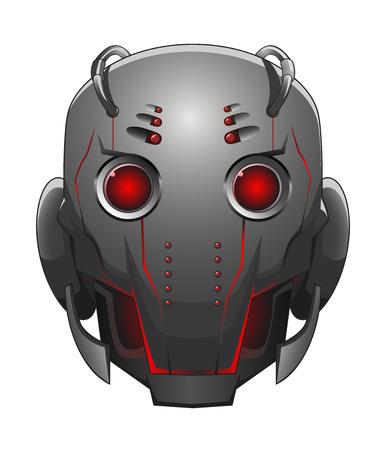 robot head: Illustration of Robot Head Illustration