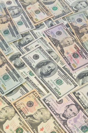 money notes of dollar of the USA as background