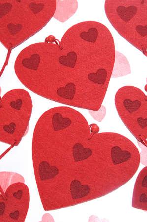 Hearts Symbols On Valentines  Textile