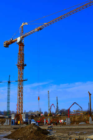 Tower-crane at a construction site Stock fotó