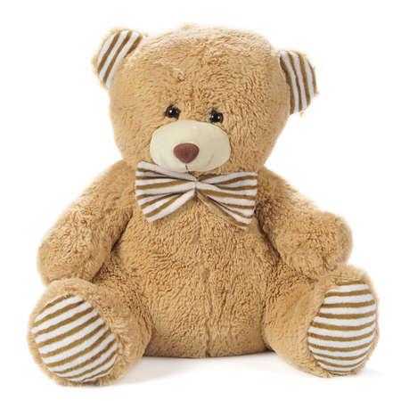 peluche: Imagen de un oso de peluche aislado en blanco
