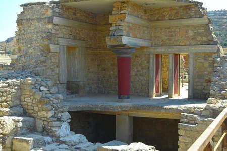 minoan: Ruins of the Minoan Knossos Palace, Crete, Greece.