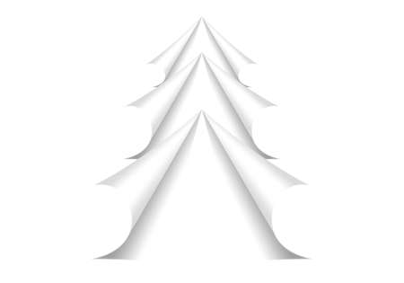 Twisted corners of pages in the form of Christmas Tree Stock Photo - 11499629
