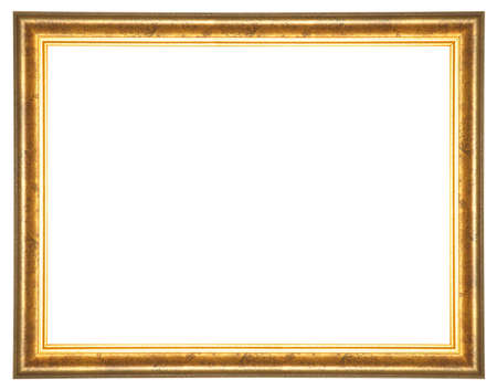 patina: Vintage picture frame with patina decoration on white background Stock Photo