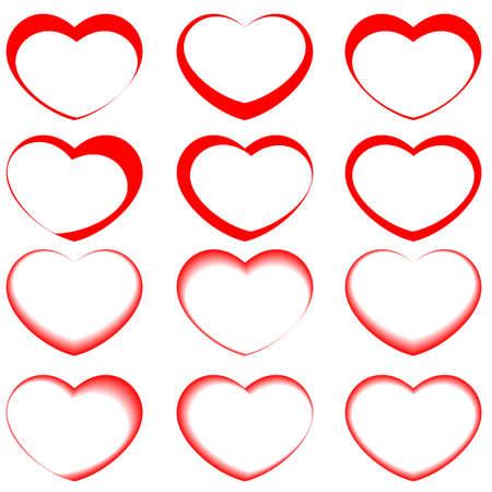 vector hearts symbols