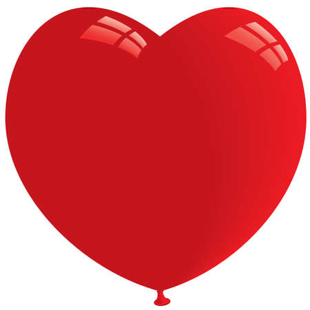 Red Heart Shape Balloon. Isolated on white. Vector format Vector
