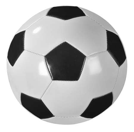 Traditional soccer ball isolated on white Stock Photo