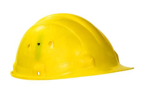Yellow hard hat isolated on white Stock Photo - 12202223