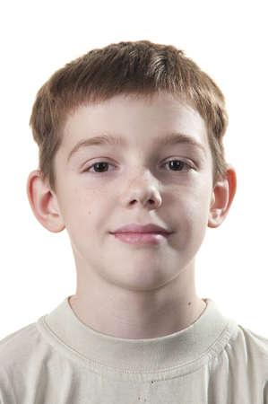 Portrait of boy 10 years. Studio shoot. Stock Photo - 12545054