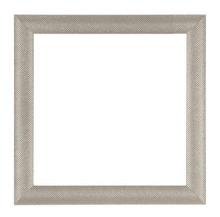 Metalic square frame isolated on white background Stock Photo
