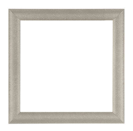 tableau: Metalic square frame isolated on white background Stock Photo