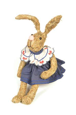 handmade rabbit hay isolated on white background