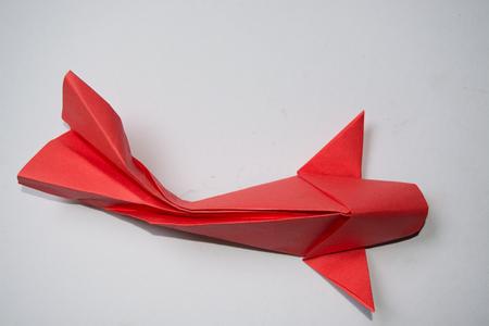 koi: origami koi Stock Photo