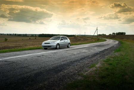 raod: A lonely car on the raod
