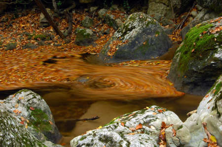 Mysterious whirlpool on a river Stock Photo
