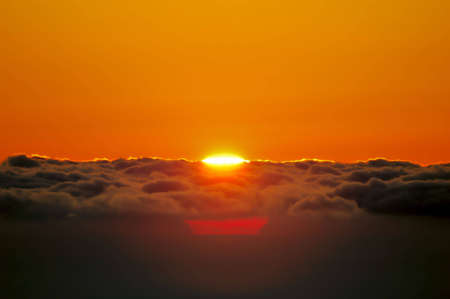 Sunrise at coast of the sea Stock Photo