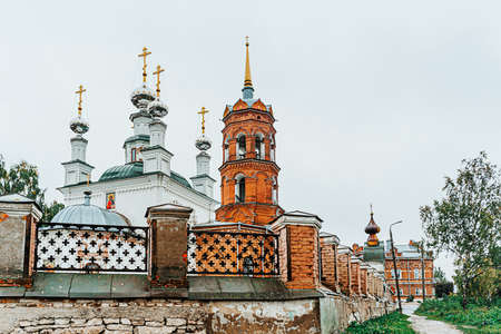 Church of the Tikhvin Icon of the Mother of God in Kungur. The cityscape of russian city Kungur of Perm Krai