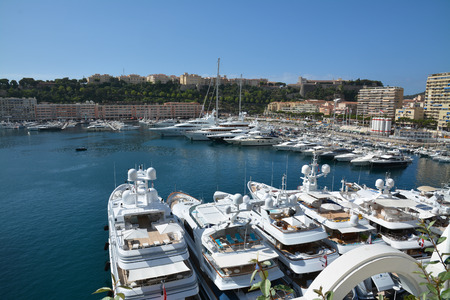 monte carlo: Quay Monte Carlo boats and yachts at berth.