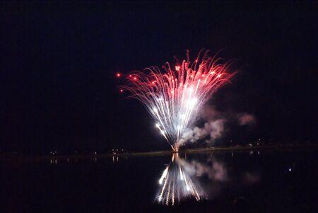 ra: Fireworks by RA 16 Stock Photo