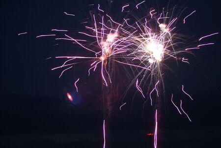 ra: Fireworks by RA 25 Stock Photo
