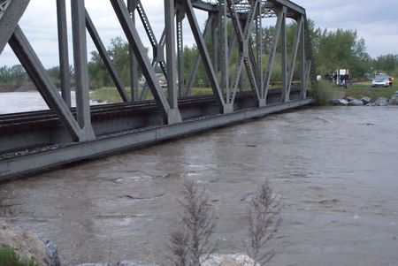 Flood In High River 2 Stock fotó