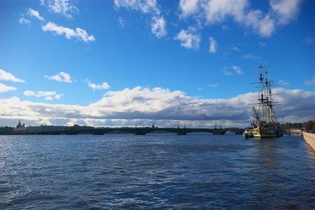 neva: Neva river Stock Photo