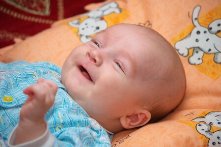 Smiling baby  photo