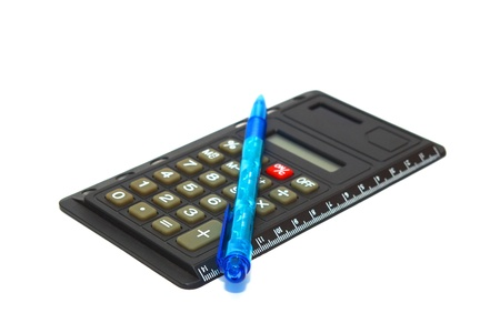 Calculator with pen   Stock Photo - 9190903