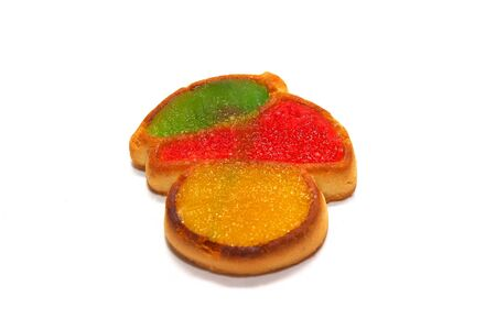 Cookie with fruit jellies   Stock Photo - 9668995