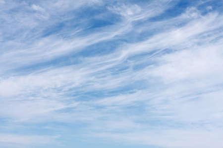 cirrus: white Cirrus clouds against a blue sky