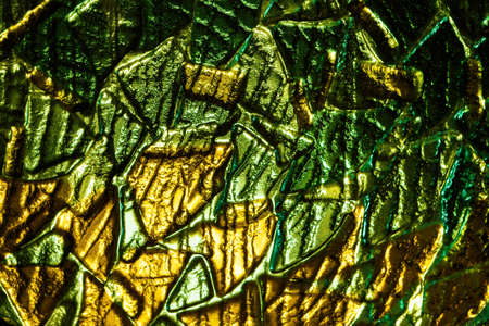 fusing: Glass fusing texture. yellow and green