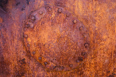 Old, Rusty metal grunge background. iron barrel, cistern