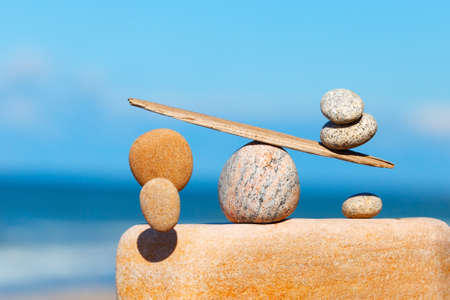 Concept of harmony and balance. The disturbed equilibrium. Imbalance