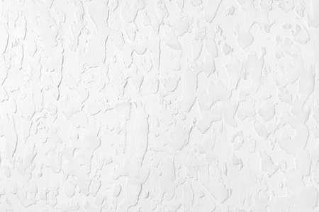 Textured white plaster on the wall. Background image, texture