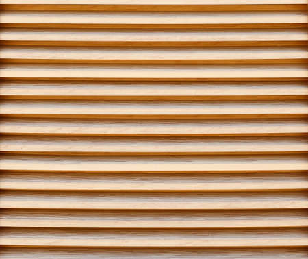 New wooden blinds close-up. Background image, texture Stockfoto