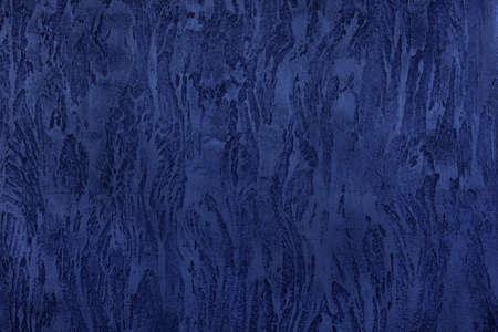 Dark blue texture of Venetian plaster. Background image Stockfoto