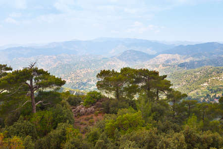 Troodos mountains located in the Western part of the island of Cyprus Imagens