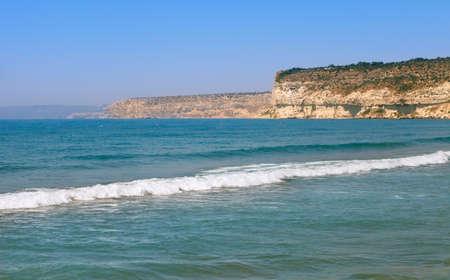 Beautiful Kourion beach on a clear Sunny day. Limassol, Cyprus