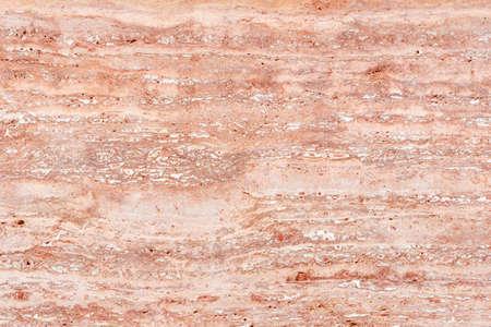 Polished surface of beautiful pink Travertine. Background image, texture