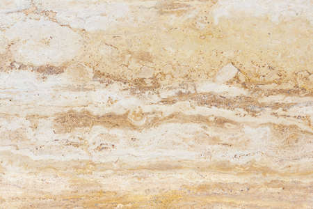 Polished surface of beautiful sand-colored Travertine. Background image, texture Stock Photo