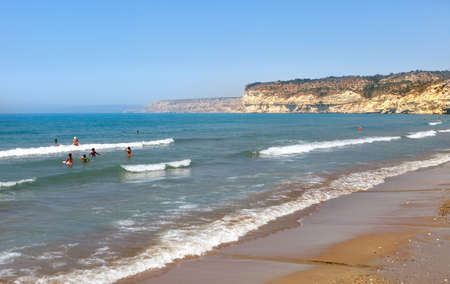 Beautiful Kourion beach on a clear Sunny day. Limassol, Cyprus
