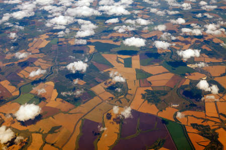 Aerial photography of the earth from a height of 10 thousand meters